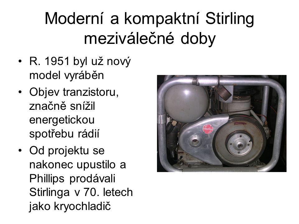 Moderní a kompaktní Stirling meziválečné doby R.
