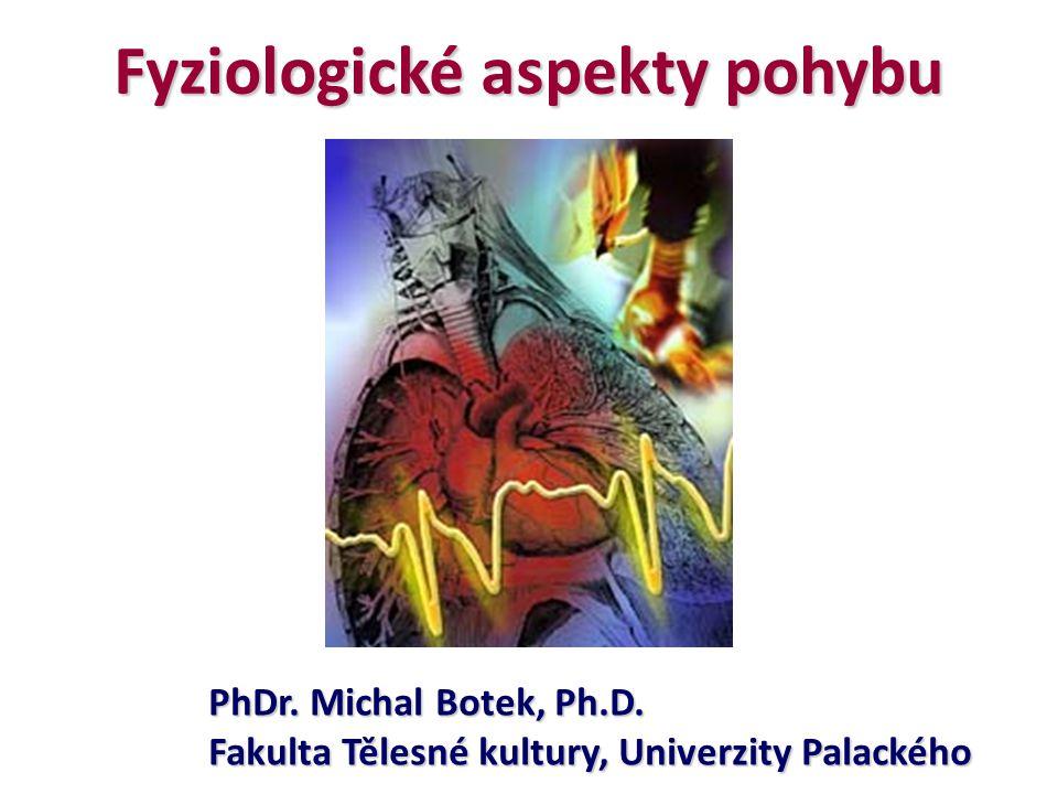 Fyziologické aspekty pohybu PhDr. Michal Botek, Ph.D. Fakulta Tělesné kultury, Univerzity Palackého