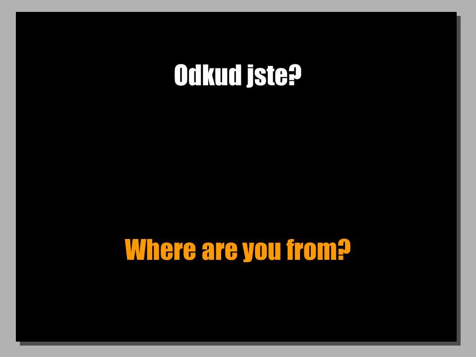 Proč se ptáte? Why do you ask?