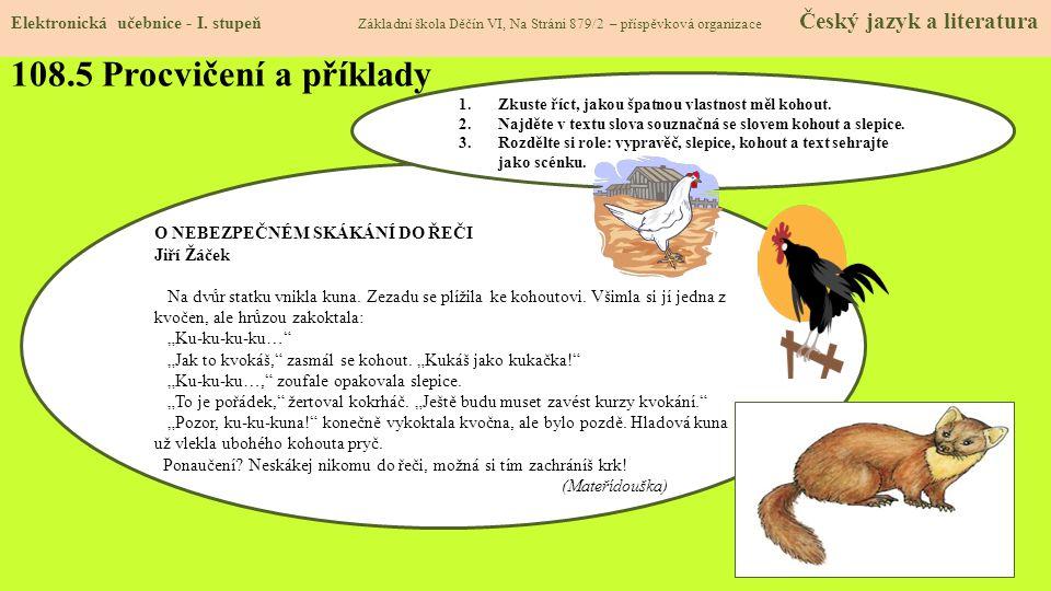 108.5 Procvičení a příklady Elektronická učebnice - I.