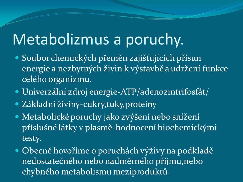 Metabolizmus a poruchy.