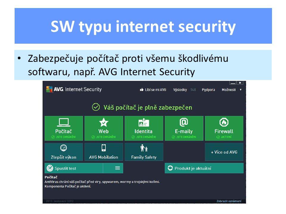 Zabezpečuje počítač proti všemu škodlivému softwaru, např.