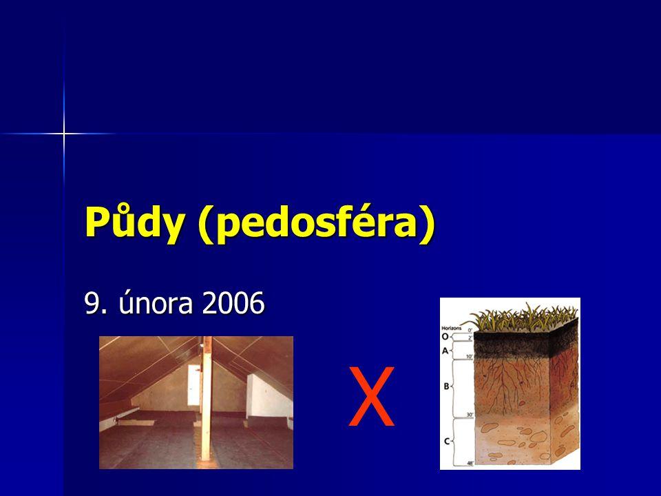 Půdy (pedosféra) 9. února 2006 X