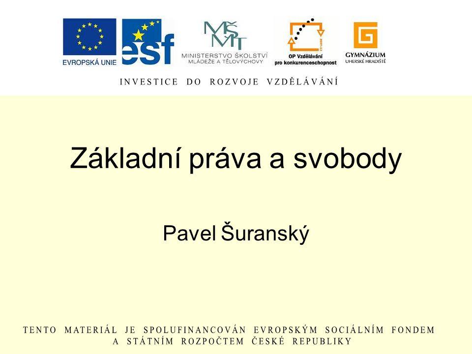 Základní práva a svobody Pavel Šuranský