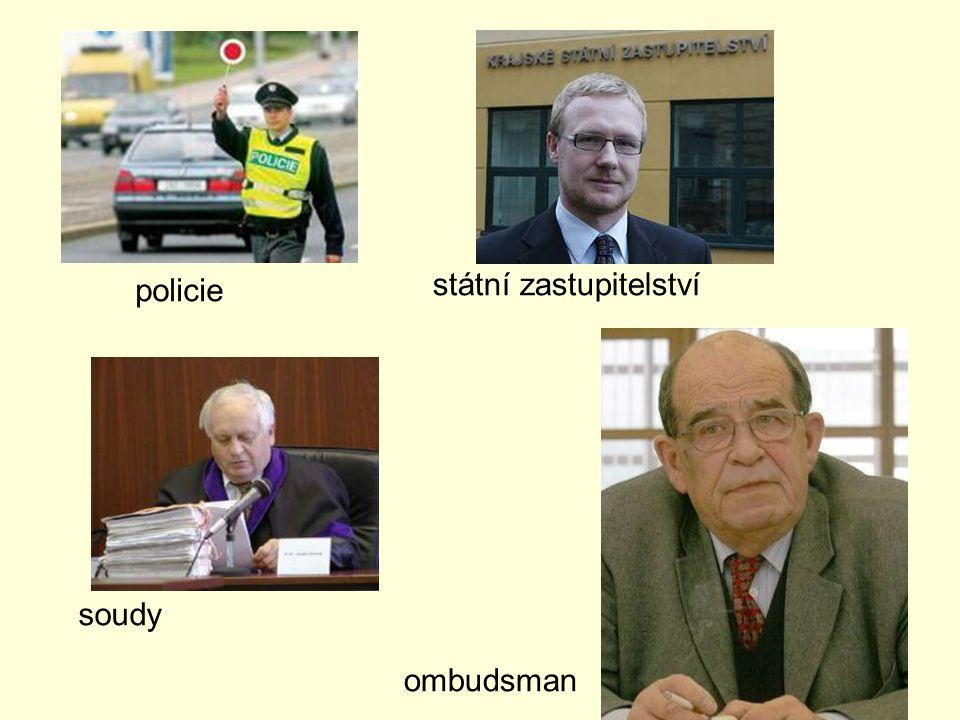 policie soudy ombudsman státní zastupitelství