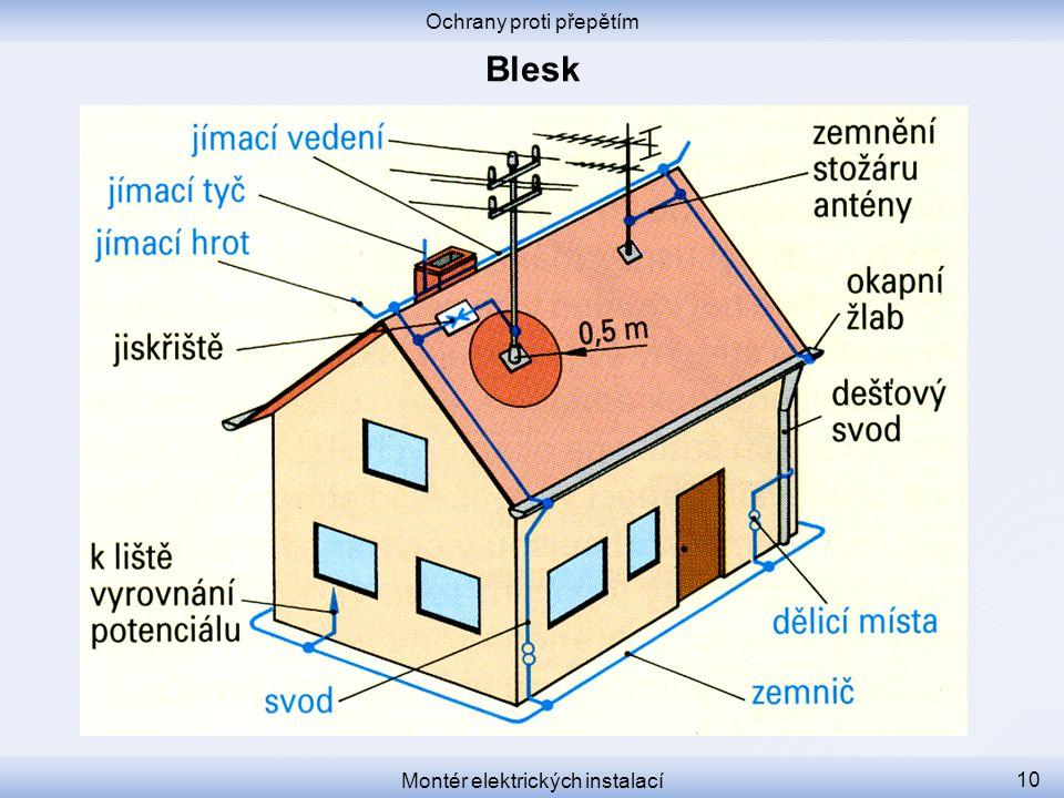 Ochrany proti přepětím Montér elektrických instalací 10