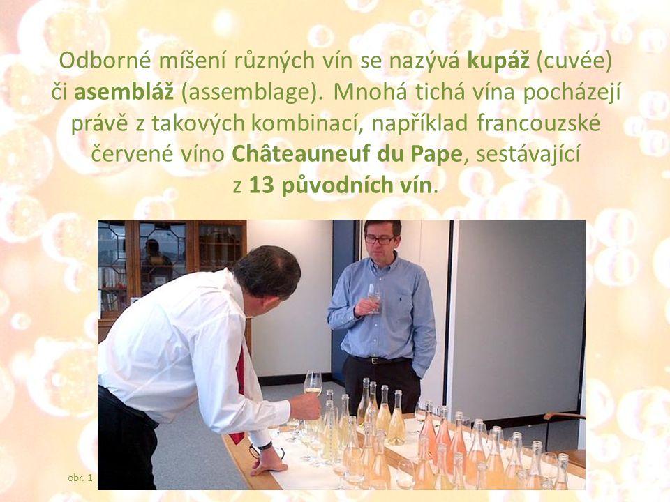 Odborné míšení různých vín se nazývá kupáž (cuvée) či asembláž (assemblage).