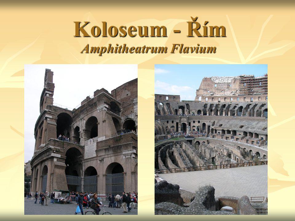 Koloseum - Řím Amphitheatrum Flavium