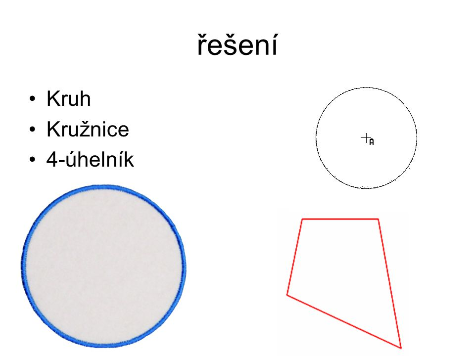 řešení Kruh Kružnice 4-úhelník