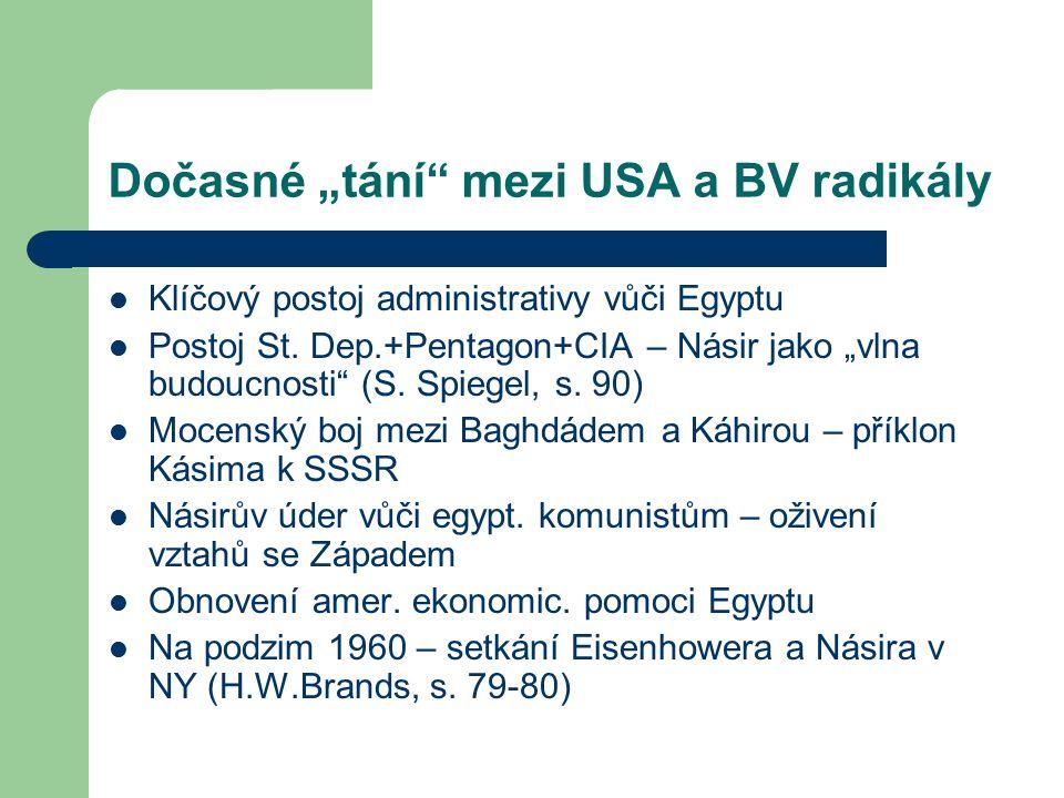 """Dočasné """"tání mezi USA a BV radikály Klíčový postoj administrativy vůči Egyptu Postoj St."""