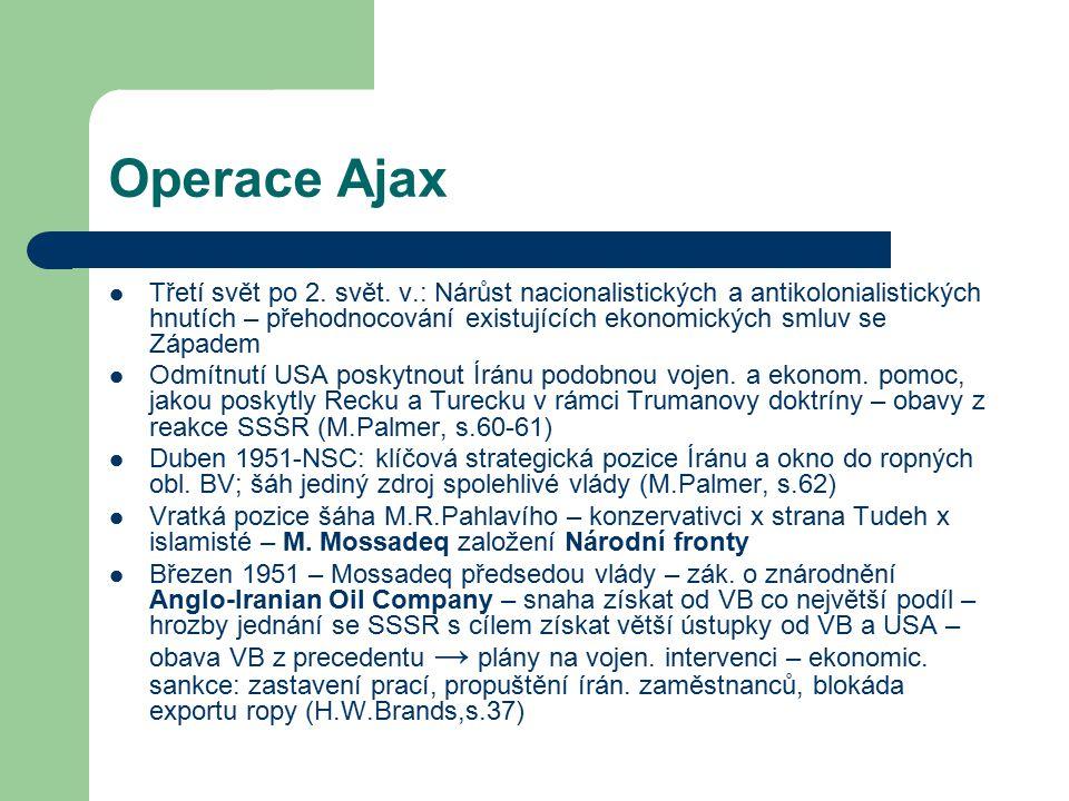 Operace Ajax Třetí svět po 2.svět.