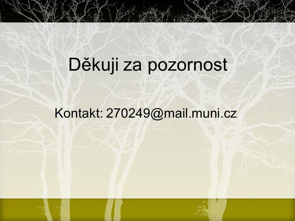 Děkuji za pozornost Kontakt: 270249@mail.muni.cz