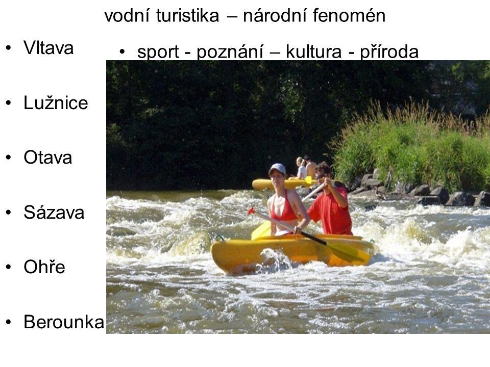 vodní turistika – národní fenomén Vltava Lužnice Otava Sázava Ohře Berounka sport - poznání – kultura - příroda