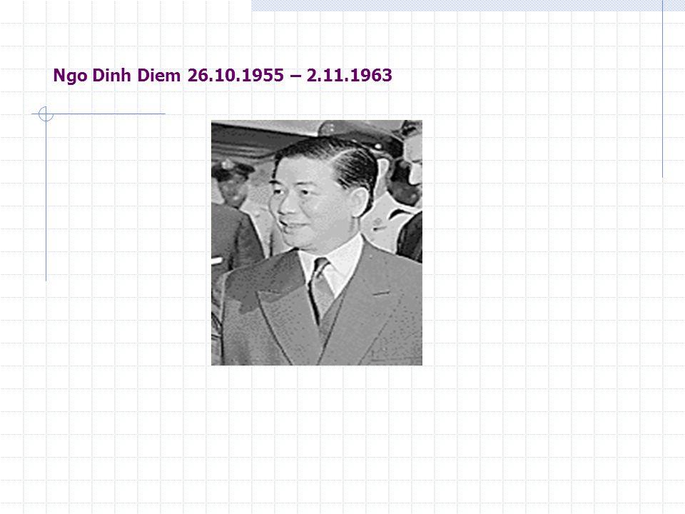 Ngo Dinh Diem 26.10.1955 – 2.11.1963