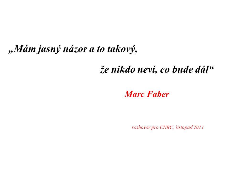 """""""Mám jasný názor a to takový, že nikdo neví, co bude dál Marc Faber rozhovor pro CNBC, listopad 2011"""