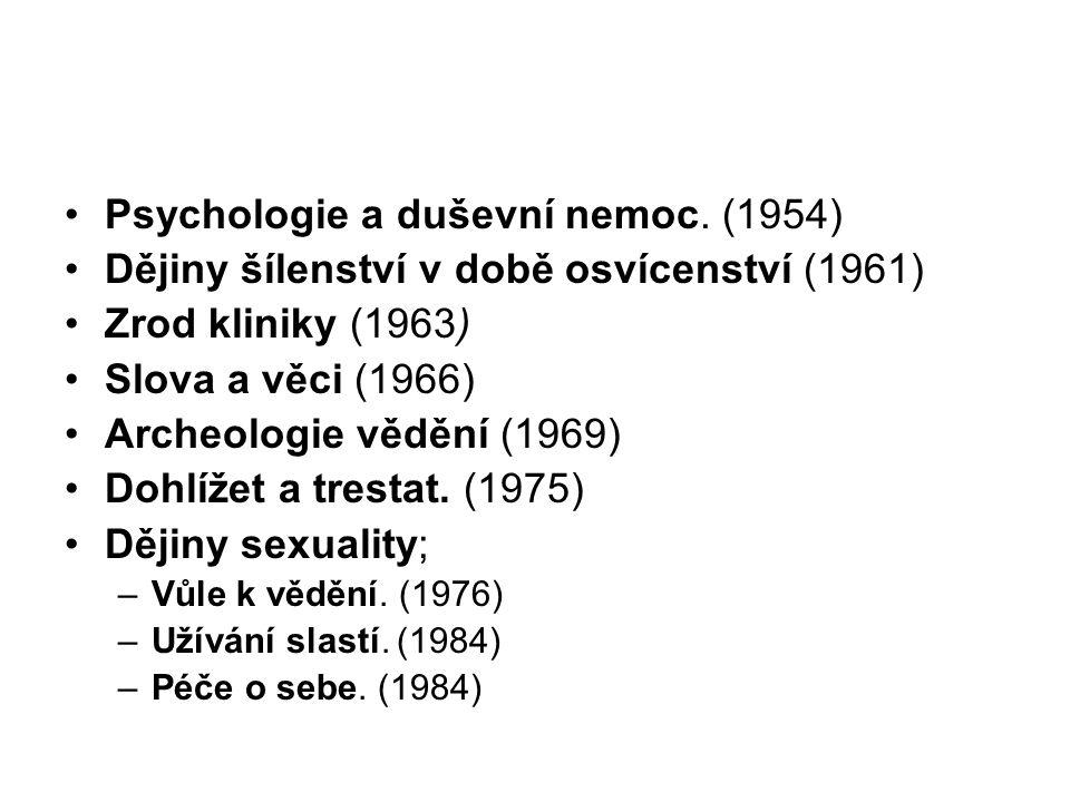 Psychologie a duševní nemoc.