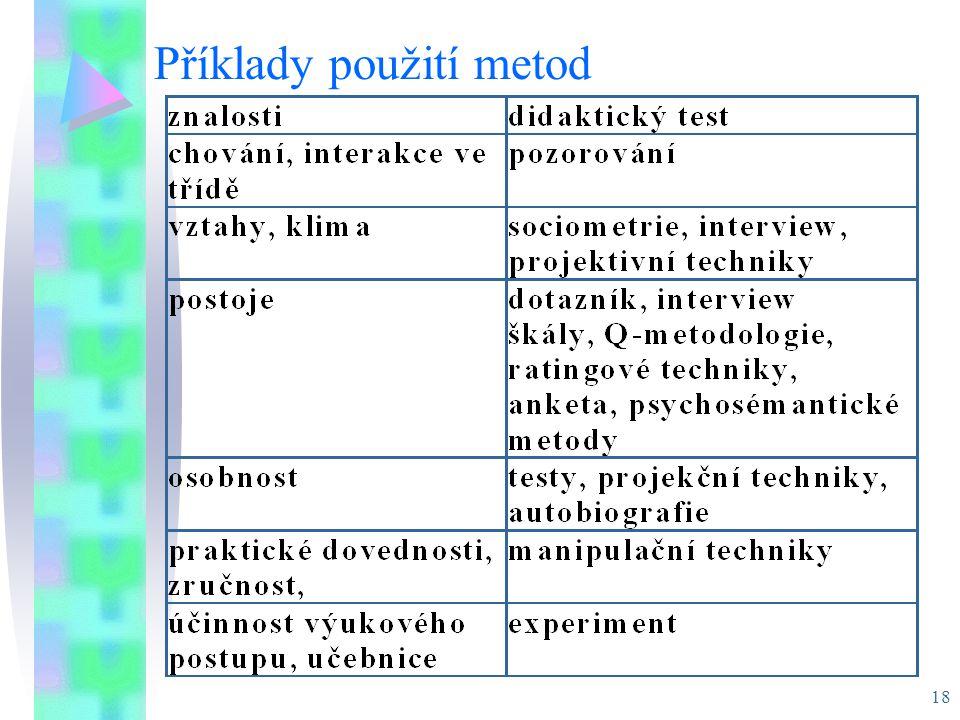 18 Příklady použití metod