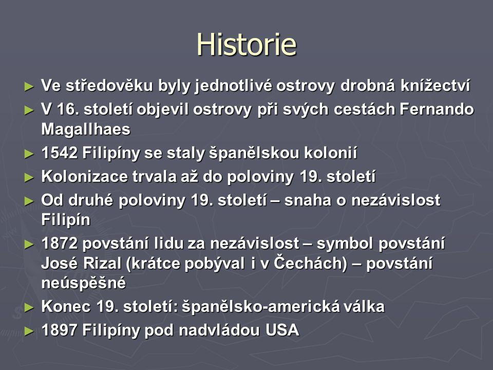 Historie ► Ve středověku byly jednotlivé ostrovy drobná knížectví ► V 16.