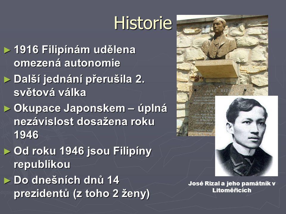 Historie José Rizal a jeho památník v Litoměřicích ► 1916 Filipínám udělena omezená autonomie ► Další jednání přerušila 2.