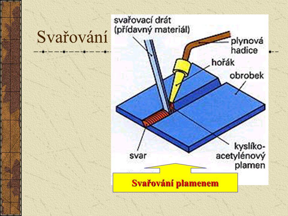 Svařování Pod pojmem s ss svařování rozumíme spojování dvou kovů teplem. Spojovaná místa se přívodem tepla stanou kapalná nebo plastická. Spojení je n