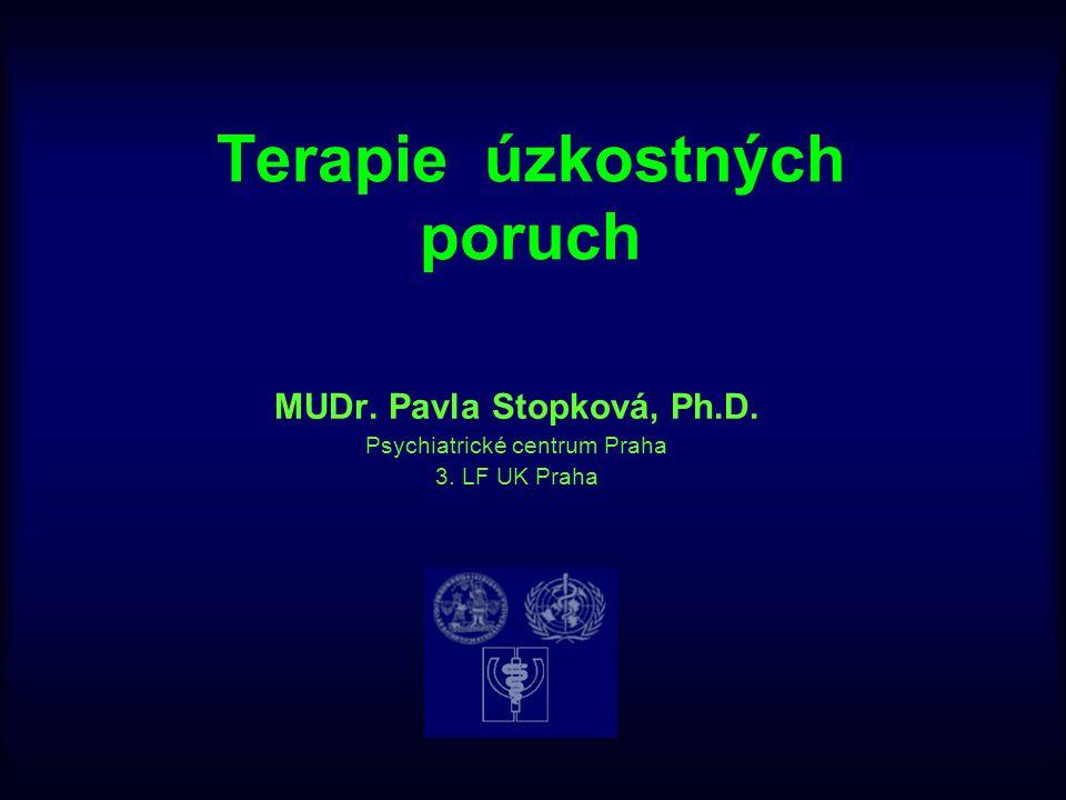 Terapie úzkostných poruch MUDr. Pavla Stopková, Ph.D. Psychiatrické centrum Praha 3. LF UK Praha