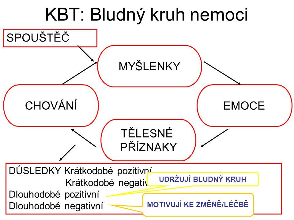 Specifické (izolované) fobie KBT: Expozice in vivo (odstupňovaná nebo zaplavení) Expozice v imaginaci 5 – 10 sezení  efekt u 80 – 90 % pacientů !!.