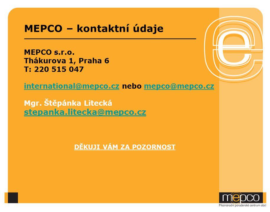 MEPCO – kontaktní údaje MEPCO s.r.o.