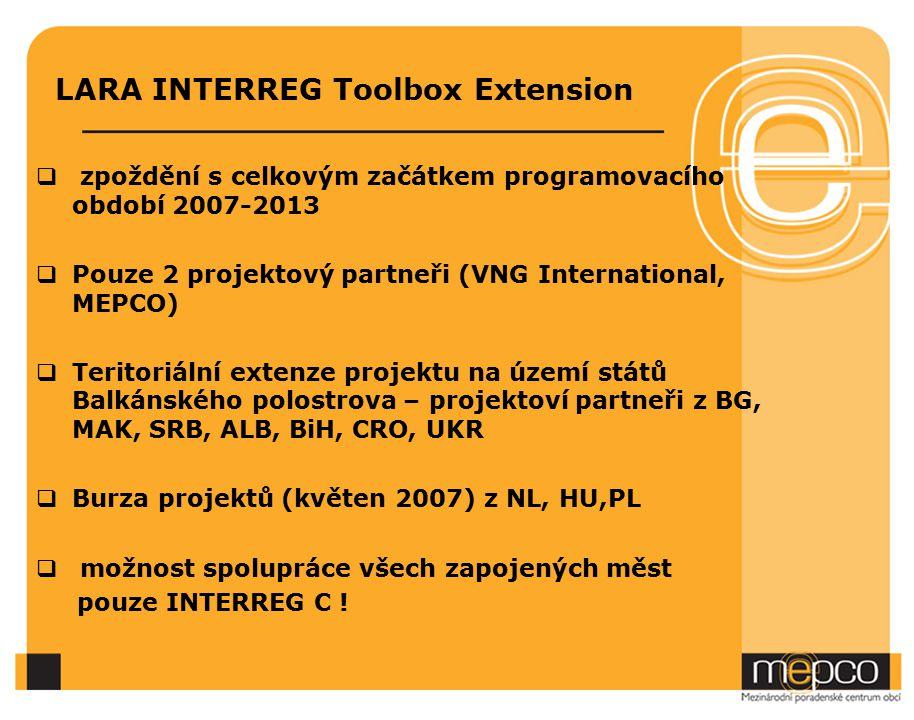 Cíl 3: Mezinárodní spolupráce INTERREG IV B SOUTH EAST EUROPE CENTRAL EUROPE Oblast CES (Central European Space): AUT, PL, GE (část), HU, SLO, CZ, SK a IT (část), z nečlenských zemí UA Oblast SEE (South East Europe):IT, AUT, HU, SK, SLO, GR, RO,BG a z nečlenských zemí MD, CRO, SRB, CG, BiH, ALB, FYROM