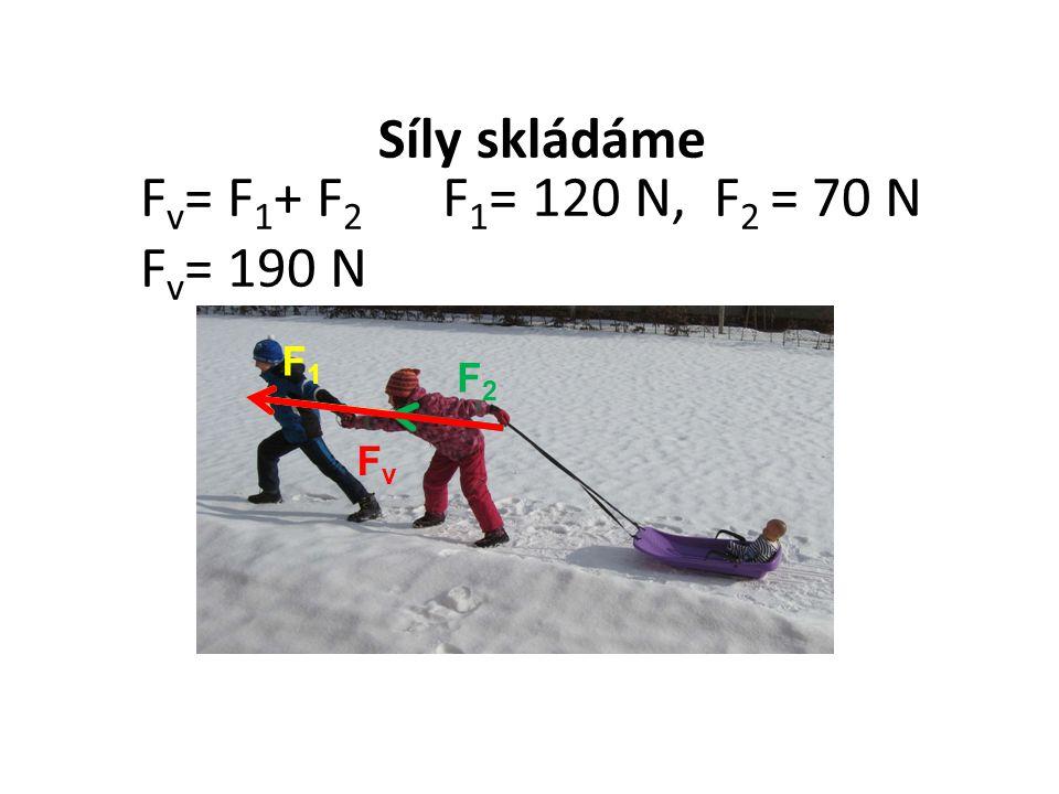 F2F2 F1F1 FvFv F v = F 1 + F 2 F 1 = 120 N, F 2 = 70 N F v = 190 N