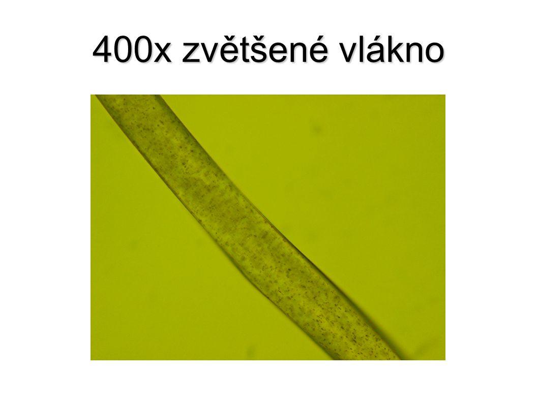 400x zvětšené vlákno