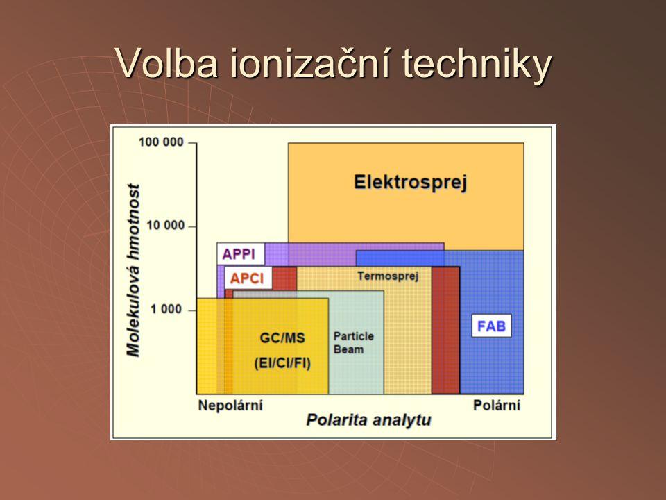 Volba ionizační techniky