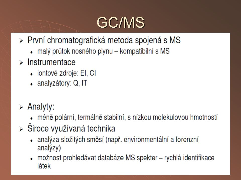GC/MS