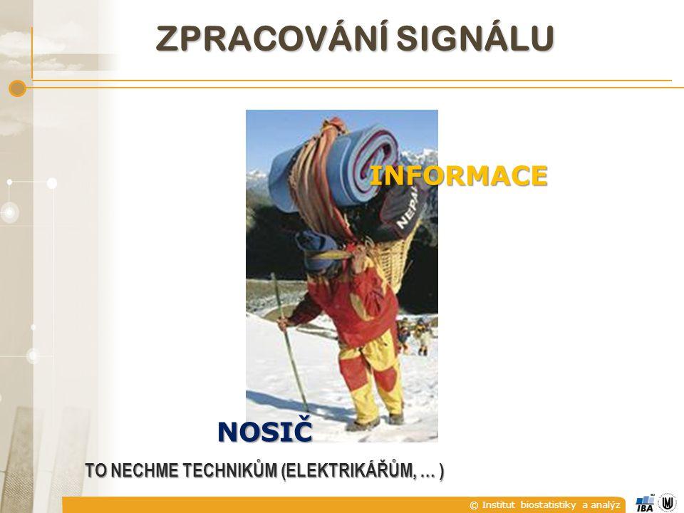 © Institut biostatistiky a analýz ZPRACOVÁNÍ SIGNÁLU INFORMACE NOSIČ