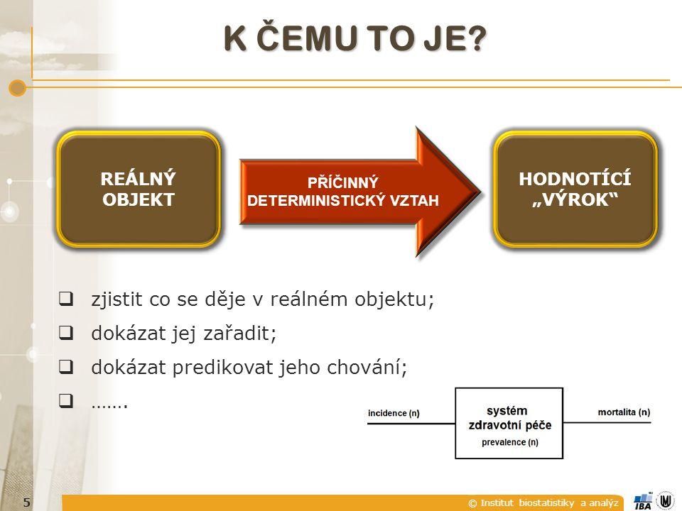© Institut biostatistiky a analýz K Č EMU TO JE.