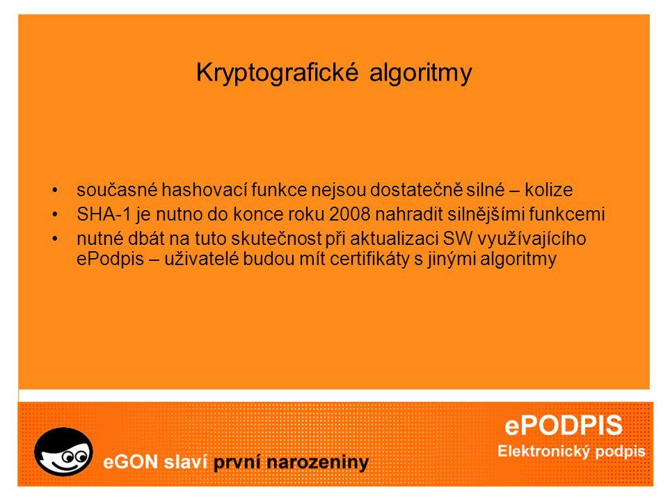 """Autentizace a šifrování poskytovatel zavazuje smluvně uživatele QC, aby používal párová data pouze k podepisování (požadavek závazných norem) autentizace – problém podpisu zprávy, se kterou se podepisující osoba neseznámí (projev vůle s """"nonce ) šifrování – problém kontroly nad soukromým klíčem"""