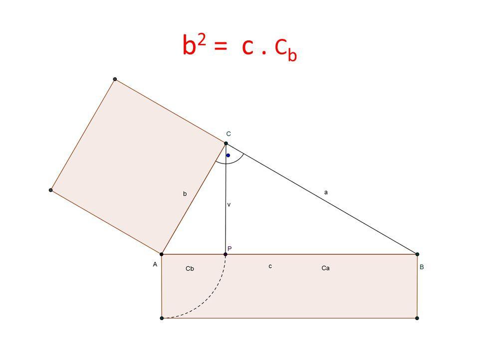 b 2 = c. C b