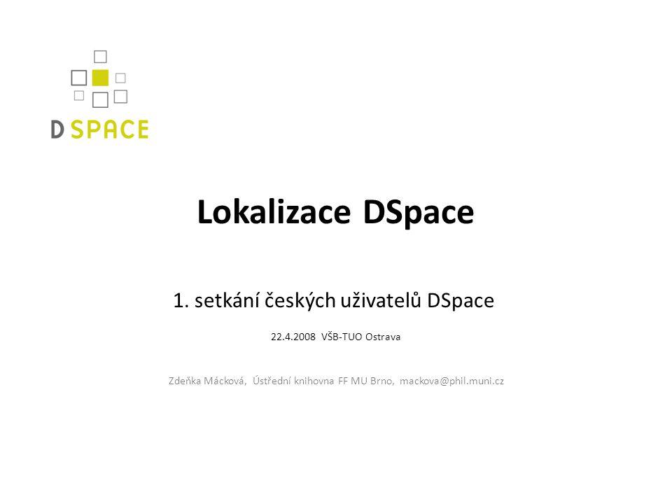 Lokalizace DSpace 1.