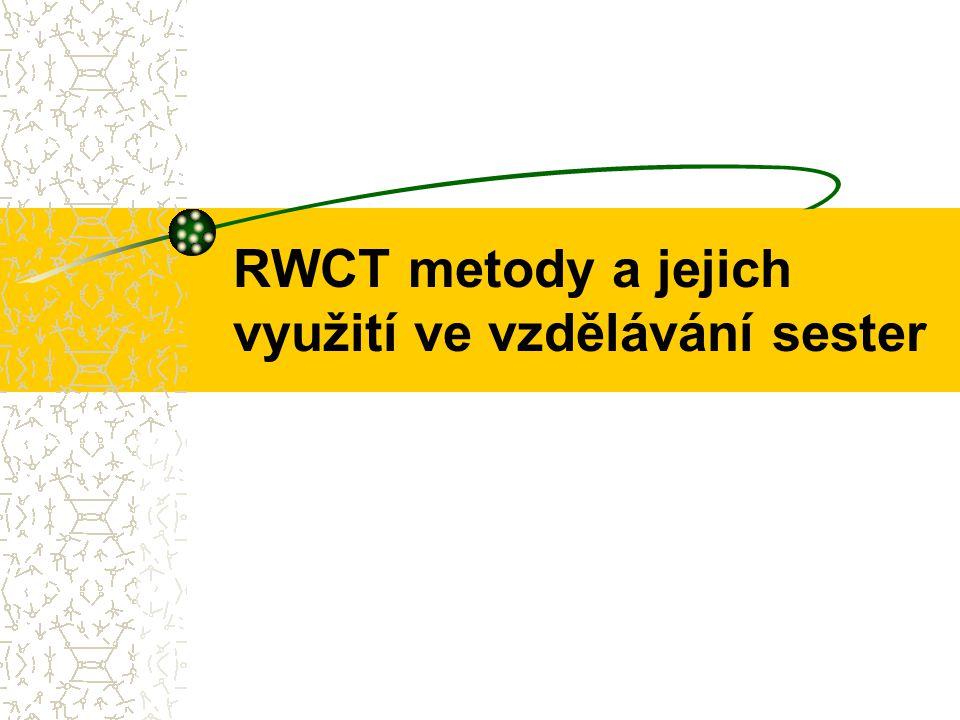 RWCT metody a jejich využití ve vzdělávání sester