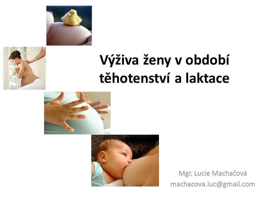 Osnova Změny v těhotenství Výživa v prekoncepčním období Výživa v těhotenství Doplňky stravy v těhotenství Tělesné obtíže v těhotenství Výživa v období laktace
