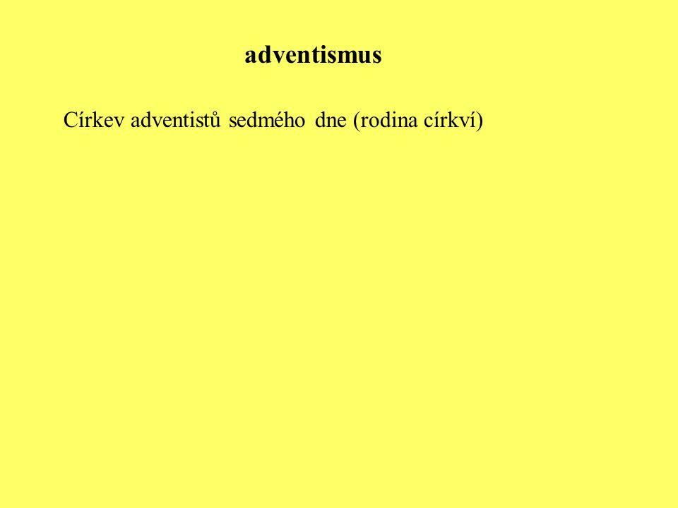 Církev adventistů sedmého dne (rodina církví) adventismus