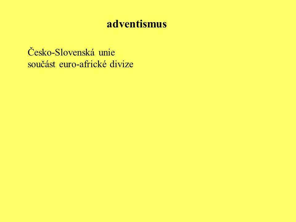 Česko-Slovenská unie součást euro-africké divize adventismus