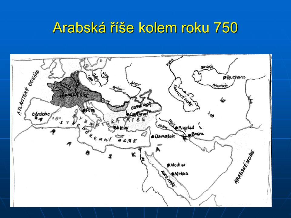 Arabská říše kolem roku 750