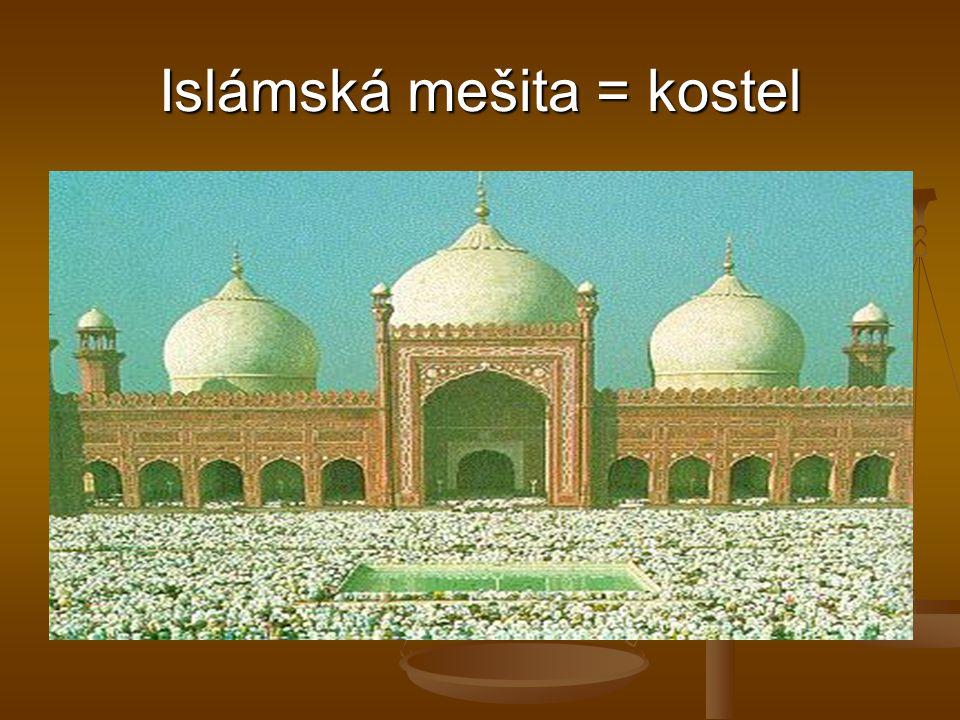 Islámská mešita = kostel