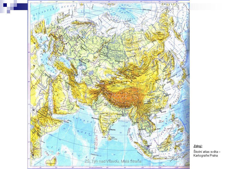 Asie poloha: poloha: - nachází se na severní polokouli a na východní polokouli - obklopují ji 3 oceány - Tichý, Indický a Severní ledový oceán rozloha: rozloha: - největší kontinent světa - 44,5 mil.