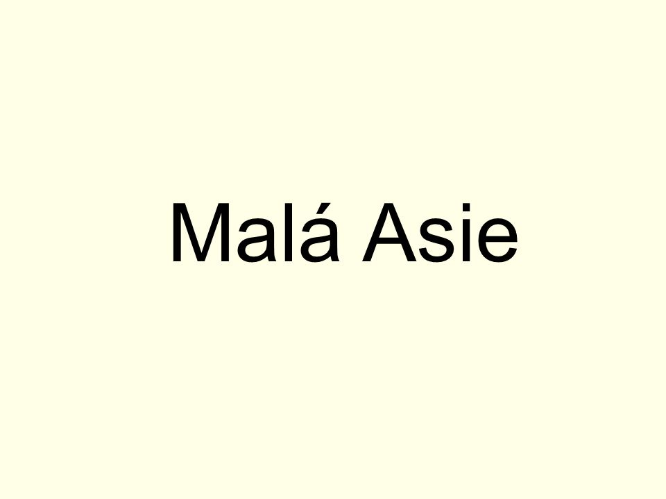 Malá Asie