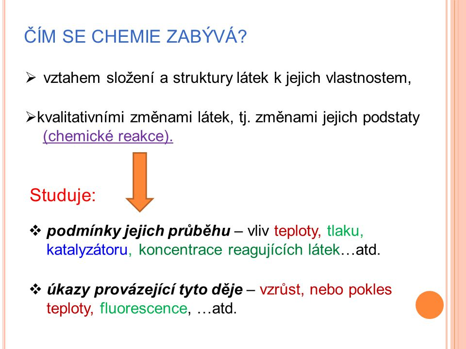 ROZDĚLENÍ CHEMIE Základní disciplíny:  chemie obecná,  chemie anorganická,  chemie organická Interdisciplinární a aplikované obory: - fyzikální, - analytická, - jaderná, - makromolekulární, - biochemie..atd.