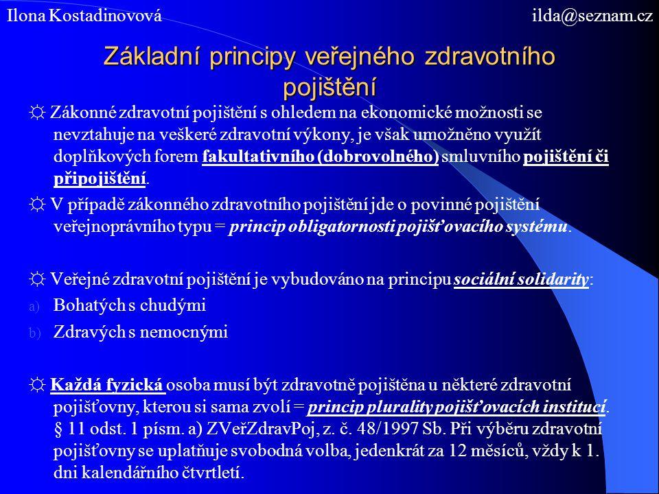 Veřejné zdravotní pojištění, z.č.