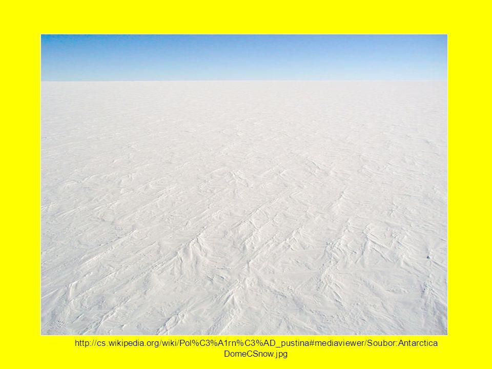 http://cs.wikipedia.org/wiki/Pol%C3%A1rn%C3%AD_pustina#mediaviewer/Soubor:Antarctica DomeCSnow.jpg