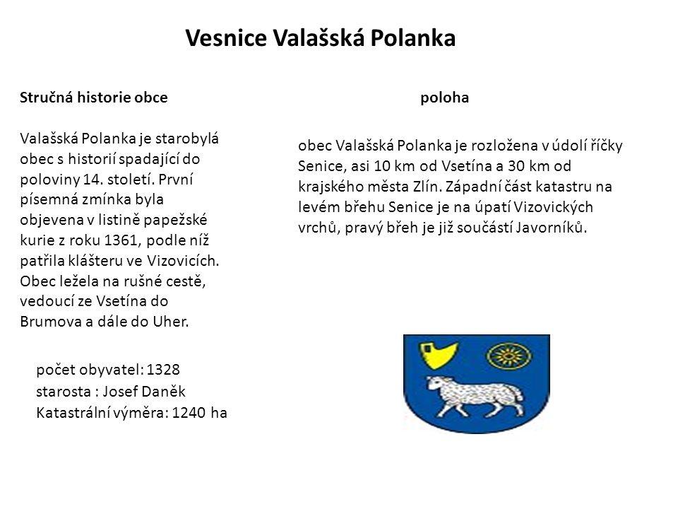 Vesnice Valašská Polanka Stručná historie obce Valašská Polanka je starobylá obec s historií spadající do poloviny 14. století. První písemná zmínka b