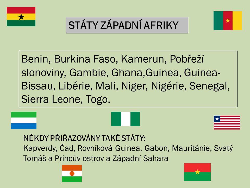 Benin, Burkina Faso, Kamerun, Pobřeží slonoviny, Gambie, Ghana,Guinea, Guinea- Bissau, Libérie, Mali, Niger, Nigérie, Senegal, Sierra Leone, Togo. STÁ